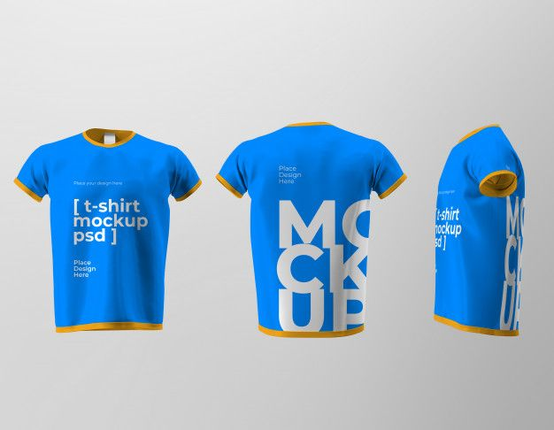 Download Mockup Of Isolated T Shirt Design With Front Back And Side Views Tshirt Designs Shirt Designs Shirt Mockup