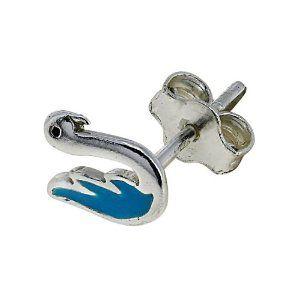 Paire de boucles d'oreilles Oiseaux bleus - Bijoux en Argent: ShalinCraft: Amazon.fr: Bijoux