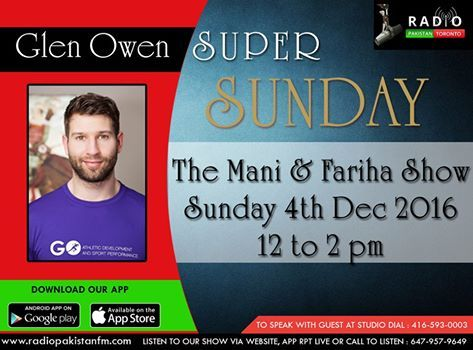 Mani and I are looking forward to conversing with Glen Owen on The Mani & Fariha Show tomorrow from noon-2pm!! Glen is a Muscle System and Exercise Specialist that supports clients and athletes in their physical self expression. In his 10 years in the health and fitness industry, Glen has worked in athletic high performance gyms, physiotherapy rehabilitation clinics, and boutique studios. He has had the pleasure of lecturing at York University and the Institute of Holistic Nutrition. In his…