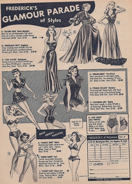 Fredericks of Hollywood Glamour Parade 1953    Brief Breezy Beauties  Ad Esquire Magazine 1953Glamour, Frederick'S Of Hollywood, Ads Esquire, Beautiful Ads, Vintage, 1950 Fashion, Esquire Magazines, 1953 Frederick, Breezy Beautiful