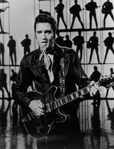 Elvis with Al Casey's 1968          Hagstrom Viking II in Studio 4 - June 30, 1968