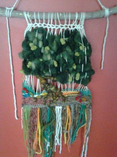 Telar arbol, lana natural $18.000 sandra___635@hotmail.com