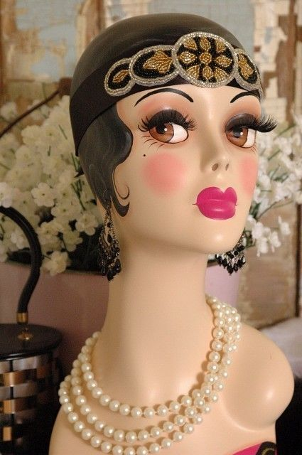 art  mannequin  Heads | Vintage Style Art Deco MANNEQUIN Head Hat\/Wig\/Jewelry Stand