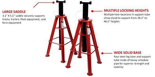 Sunex 1410 10-Ton High Height Pin Type Jack Stands, Pair  http://www.handtoolskit.com/sunex-1410-10-ton-high-height-pin-type-jack-stands-pair/