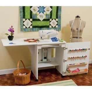 White Sewnatra Compact Sewing Cabinet