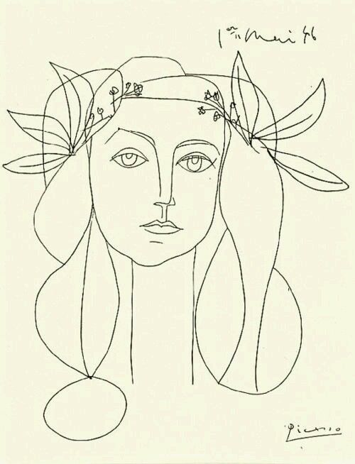 authentic fauxhemian - Pablo Picasso's Line drawings