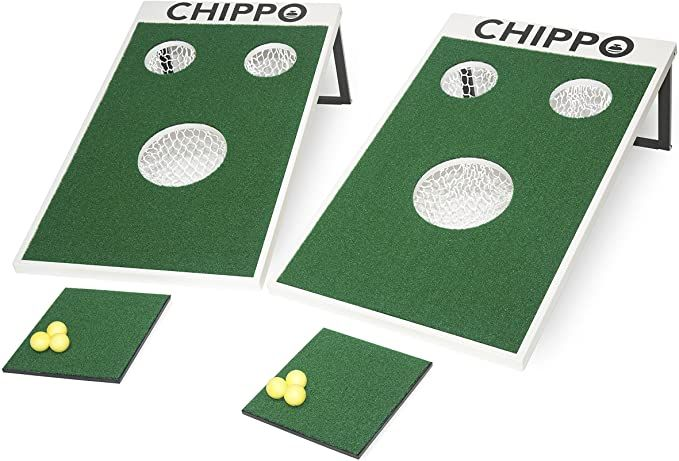 Amazon Com Chippo Golf Meets Cornhole The Revolutionary New Golf Game For The Beach Backyard Tailgate Clubhouse Office An Golf Net Golf Grip Golf Game