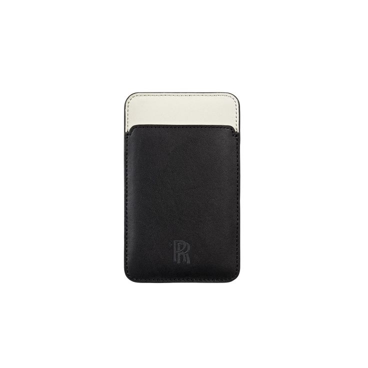 iPhone Case. Protect your iPhone with this specially designed sleeve. Crafted in high quality black leasther with contrasting Seashell interior and an embroidered RR monogram. This sleek case is suitable for the iPhone 3, 4 and 4S.