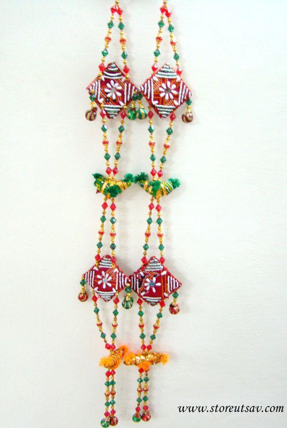 2 Wall Hangings or Door Hanging Gujarati of Beads by Store Utsav (www.storeutsav.com)