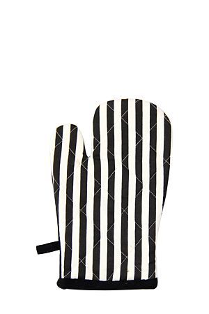 """100% Cotton single oven glove with a French stripe printed design detail, has a cotton wadding padded inner to protect your hands from heat.<div class=""""pdpDescContent""""><BR /><b class=""""pdpDesc"""">Dimensions:</b><BR />L28.5xW16 cm<BR /><BR /><b class=""""pdpDesc"""">Fabric Content:</b><BR />100% Cotton</div>"""