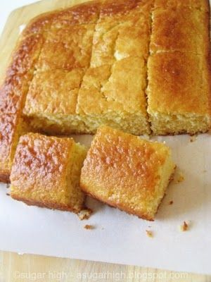 Sweet Honey Cornbread- gluten free if you substitute the flour for an all-purpose gluten free flour