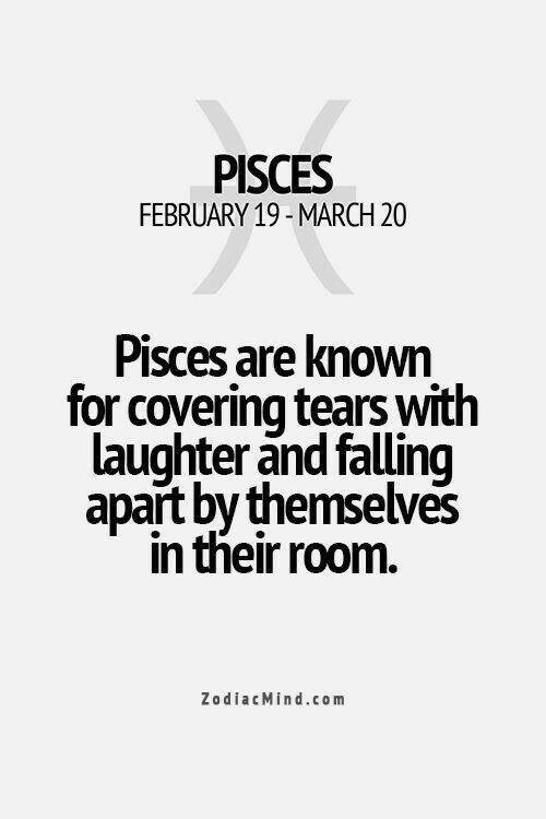 Pisces hide their tears