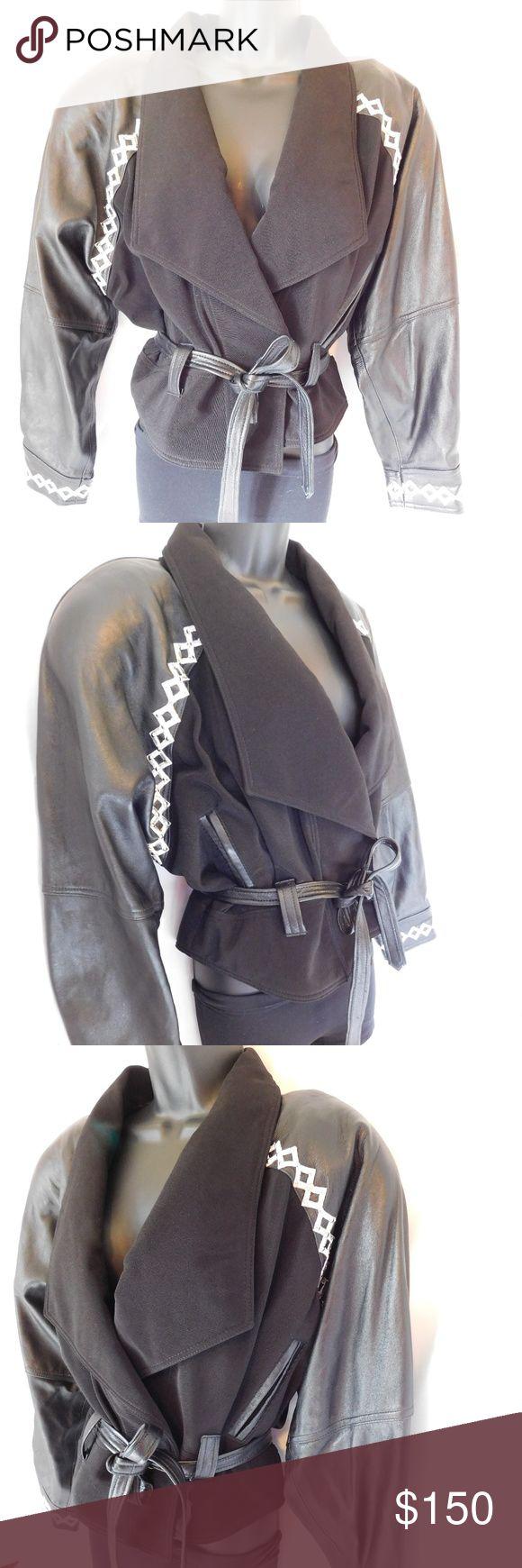 VINTAGE CACHE BLACK LEATHER JACKET Brand CACHE' Style