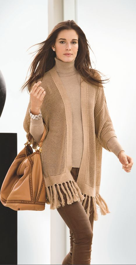 New Arrivals from Lauren Ralph Lauren: Ease into fall with elegant layered looks in a neutral palette
