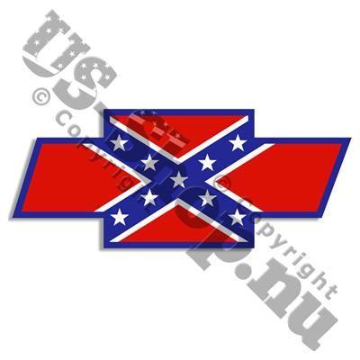 35,00 DKK. Chevy Rebel klistermærke. Klistermærke med det Amerikanske Confederate Sydstatsflag i klare røde og blå farver, forgivet som Chevrolet, 17,5 cm bredt og 7 cm højt.  Chevy klistermærket klæber på bagsiden, og er fremstillet i USA i vejr og UV bestandig blank vinyl af god kvalitet med en forventet levetid på 3 - 5 år (udendørs).  Rebel flag klistermærket kan klæbes på rene overflader som f.eks. metal, glas, plastic mm. Det er forholdsvis nemt at fjerne og efterlader ingen limrester…