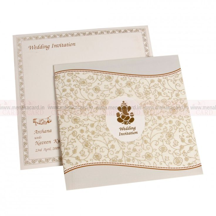 lotus flower wedding invitations%0A Folding card made in cream nurled board same as of the envelope and the  inside sheet  The card s front has a nonoven pasted  diecutted printed to  portray