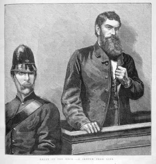 Ned Kelly's trial...woodcut appearing in The Illustrated News 1880
