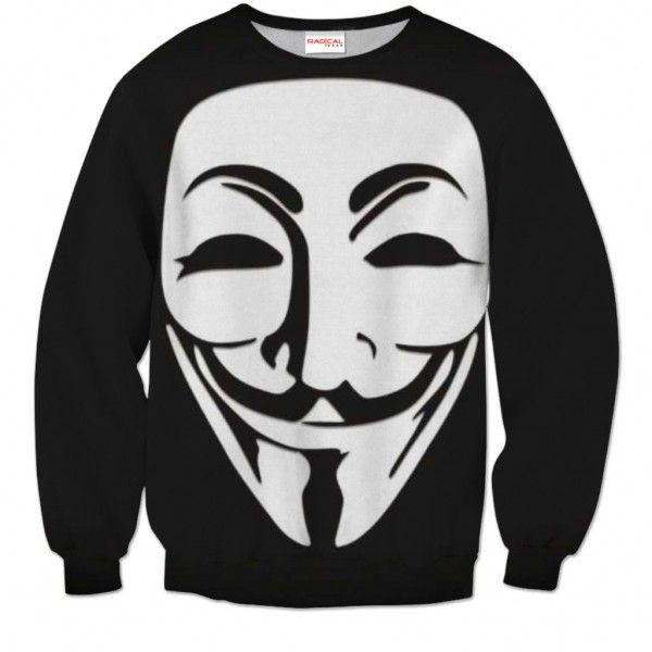 ANONYMOUS MASK Sweatshirt Full Print 3D