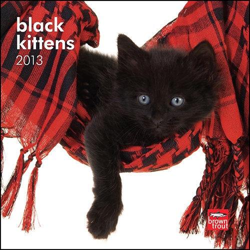 Black Kittens Mini Wall Calendar: Full of frolic and fun, kittens are little bundles of joy. This mini calendar features just black kittens. Fuzzy and dark, they'll pounce their way right into your heart. This delightful Black Kittens mini calendar is sure to make a wonderful addition to any home.  $7.99  http://calendars.com/Cat-Breeds/Black-Kittens-2013-Mini-Wall-Calendar/prod201300004394/?categoryId=cat00183=cat00183#