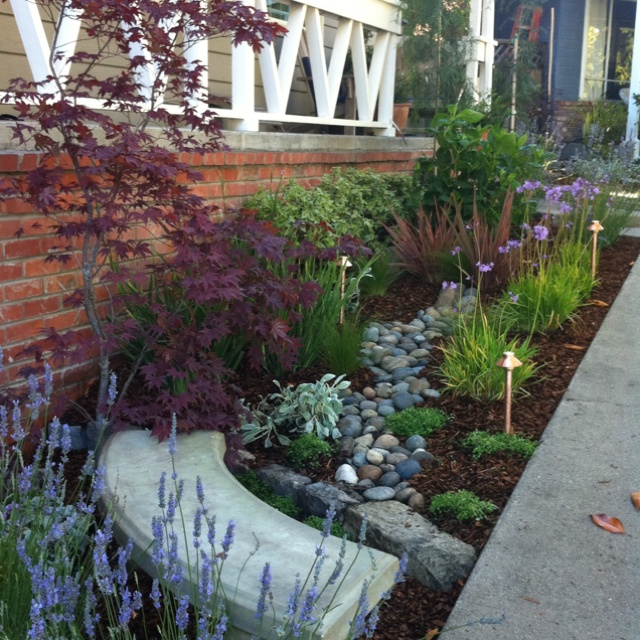 Our New Front Porch Garden. Designed By My Mom And I. Hope It Looks