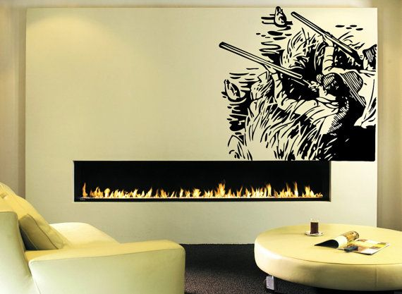 Wall Decal Sticker Bedroom duck hunting guns weapons hunters man cave decor 133b