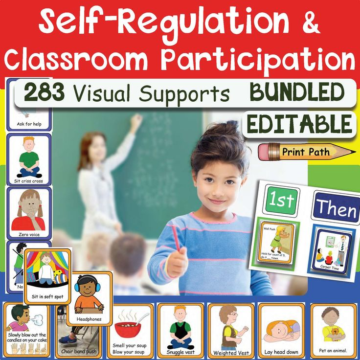 Visual Supports: Schedules, Self-Regulation, & Classroom Inclusion for special education. This is a color coded for children