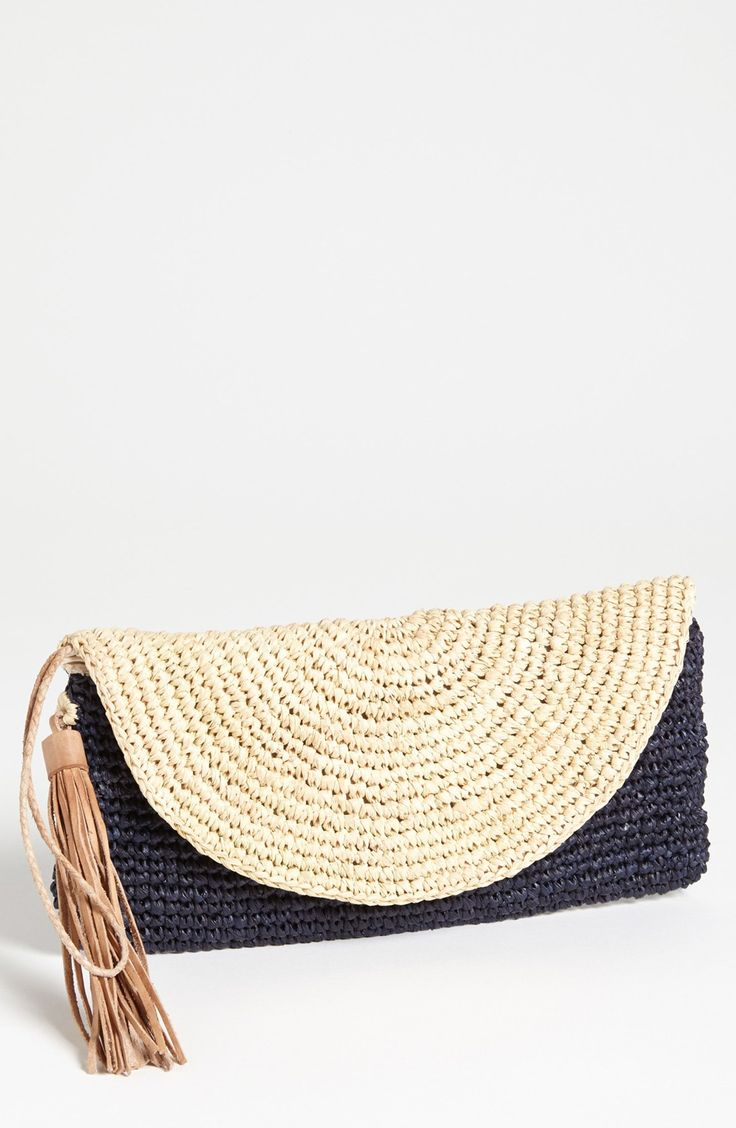 Mar y Sol 'Camille' Raffia Clutch ♪ ♪ ... #inspiration #crochet #knit #diy GB http://www.pinterest.com/gigibrazil/boards/