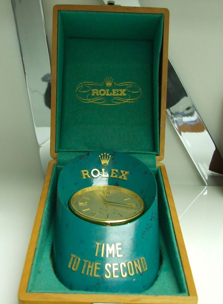 Rare Vintage Rolex Sabot Clock Toronto Auctions Maurice Ltd. This is a fine example of a Rolex Clock from the 1960's , comes in the original wooden outer case. These watches were given to Rolex Dealers to use as a Display item and were never for sale Runs on a special electro-mechanical movement and keeps very accurate time