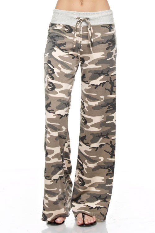 Impress your hunter with these Camo lounge pants! Very comfortable for laying around or throw on a cute black top and wear them out! Drawstring waist!