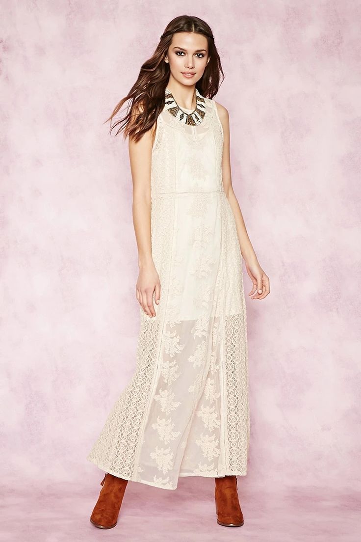 Contemporary Lace Maxi Dress #F21xMusic