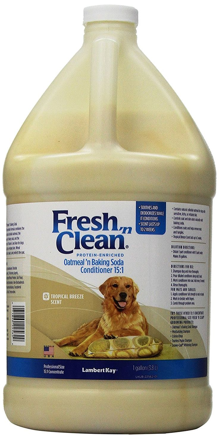 Fresh 'n Clean Oatmeal n' Baking Soda 15:1 Concentrate Conditioner, Tropical Breeze Scent ** To view further, visit now : Dog supplies for health