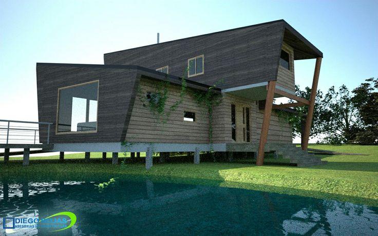 Vivienda Unifamiliar - Puerto Varas -Arquitecto: Diego Rojas | cel:+56 9 62402059 | Osorno