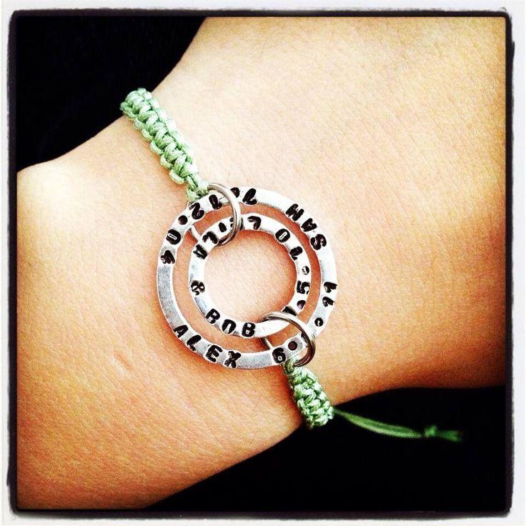Braided double washer bracelet x