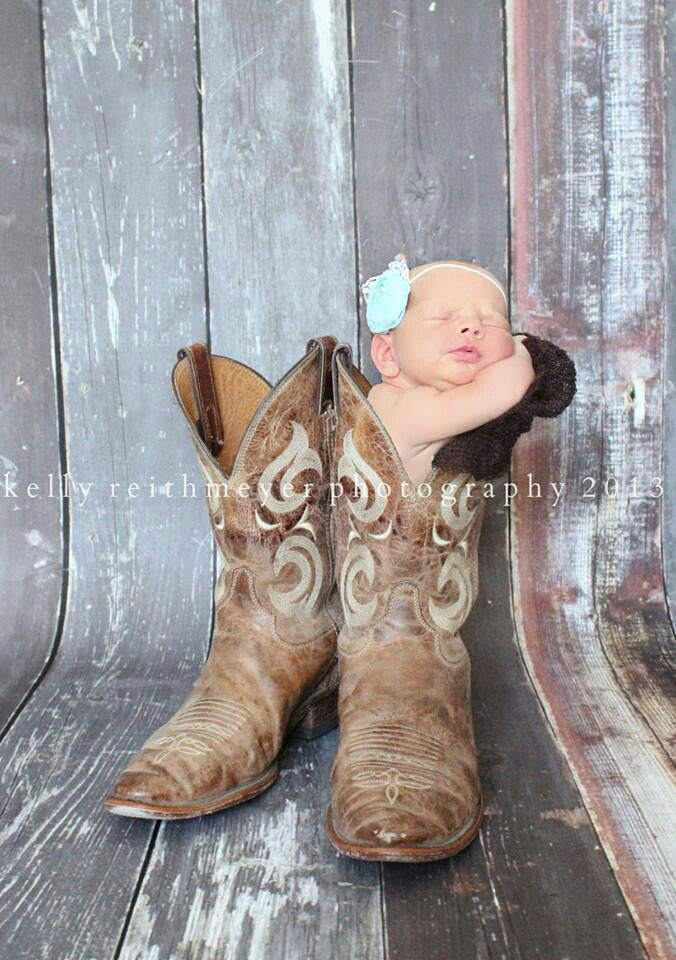 Country Baby Picture... you could have twins and fill both shoes :)