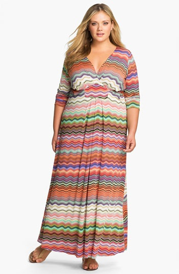 Tbags Los Angeles Faux Wrap Maxi Dress (Plus) available at #Nordstrom