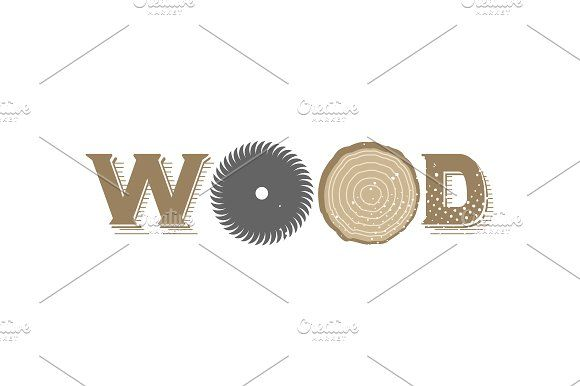 Wood logo by SuperAccurate on @creativemarket