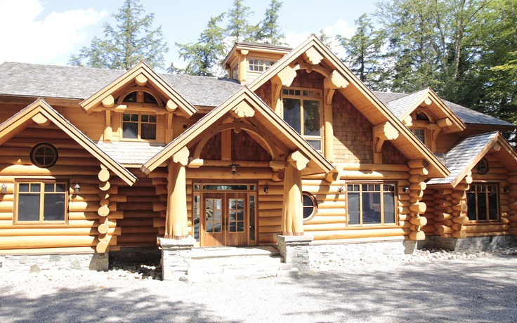 57 best hirsh log homes ontario bc canada images for Log home plans ontario