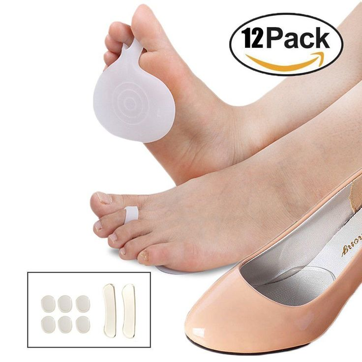 Soft Cushion Silicone Gel Pads Reduce Foot Pain In The Ball Of Foot Relief Toe #sanpink