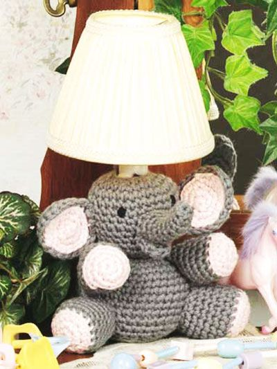 "Free pattern for ""Elephant Night Light""...This is so cute & you could do different animals!"