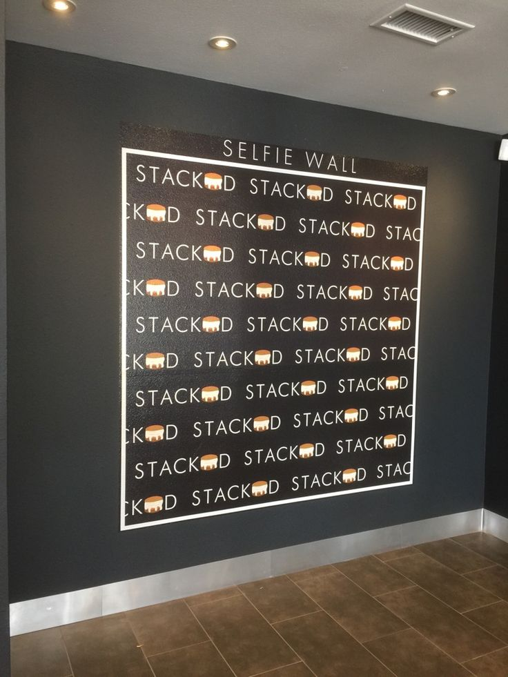 Selfie Wall (printed vinyl) for Stacked Ice Cream in Katy, Texas