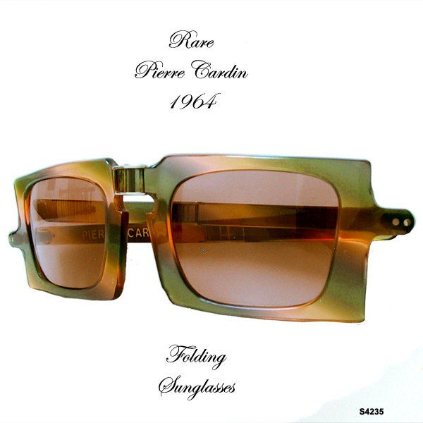 Vintage Pierre Cardin Folding Sunglasses 1964 Rare.