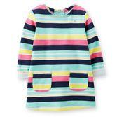 Un incontournable pour la garde-robe de chaque petite fille, cette tunique rayée est parfait à agencer avec un legging pour une tenue pratique. Retroussez les manches pour un style mignon!<br>