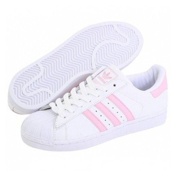 Shell Toe Pink Striped Sneakers (41,320 KRW) ❤ liked on Polyvore featuring shoes, sneakers, sapatos, stripe shoes, pink sneakers, pink trainers, striped sneakers and striped shoes