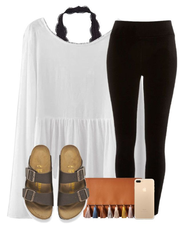 """bad set but tag in the d!!"" by madiweeksss ❤ liked on Polyvore featuring River Island, Rebecca Minkoff, Birkenstock and country"