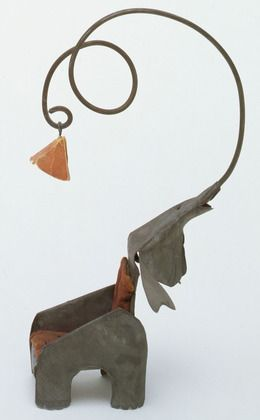 from his circus :) Alexander Calder. Elephant Chair with Lamp. 1928