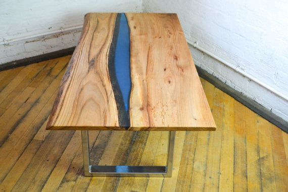 Poco Resina Live edge Elm wood slab by FrancesBradleyDesign