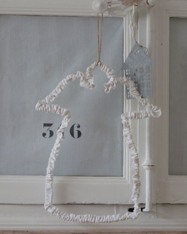 Fabric Covered Wire Angel ~ Scroll down to find instructions