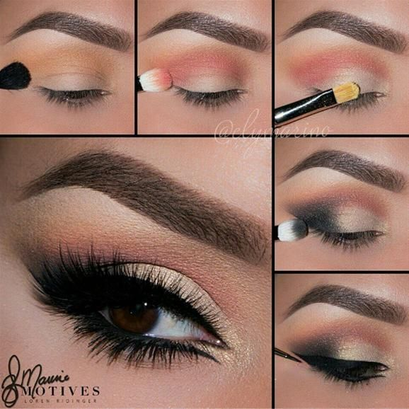 Glam Smoky Eye by @elymarino I #pampadour #motives #eotd #eyes #eyeshadow #pictorial #tutorial #beauty #makeup