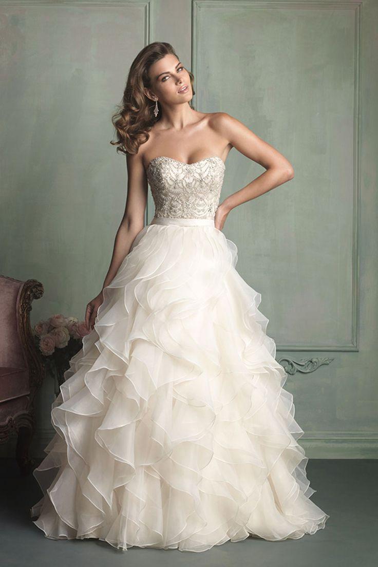 2014 vestido de novia sin tirantes balón vestido con volantes de organza de la falda del cola de la corte USD 299.99 VEPFFN6DBK - Vestido2015.com