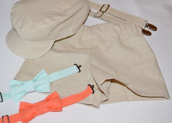 Natural/ Khaki linen blend Baby or toddler by CuppyCakeClothing